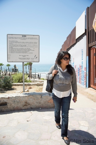 Walking next to Tijuana Border Photo Credit: Nin Solis